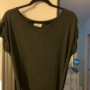 Lou and Gray Black Linen Long Dress